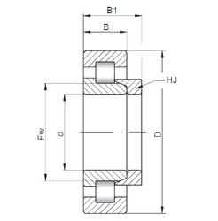 75 mm x 130 mm x 25 mm  ISO NH215 cylindrical roller bearings