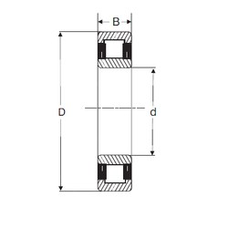 40 mm x 80 mm x 18 mm  SIGMA NU 208 cylindrical roller bearings