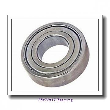 35 mm x 72 mm x 17 mm  ISB 6207-ZZNR deep groove ball bearings