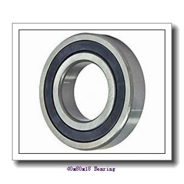 40 mm x 80 mm x 18 mm  Loyal 20208 KC+H208 spherical roller bearings