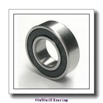 40 mm x 80 mm x 18 mm  NKE NJ208-E-TVP3+HJ208-E cylindrical roller bearings