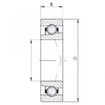 ISO 71807 A angular contact ball bearings