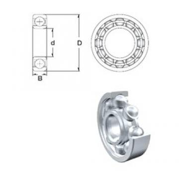 40 mm x 80 mm x 18 mm  ZEN 6208 deep groove ball bearings