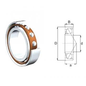 40 mm x 80 mm x 18 mm  ZEN 7208B-2RS angular contact ball bearings
