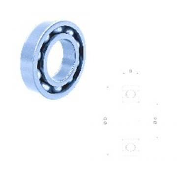 75 mm x 130 mm x 25 mm  Fersa 6215 deep groove ball bearings