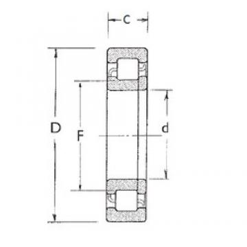 85 mm x 180 mm x 41 mm  FBJ NUP317 cylindrical roller bearings