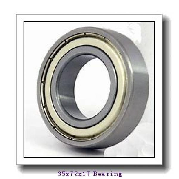 35 mm x 72 mm x 17 mm  NSK 6207N deep groove ball bearings #1 image