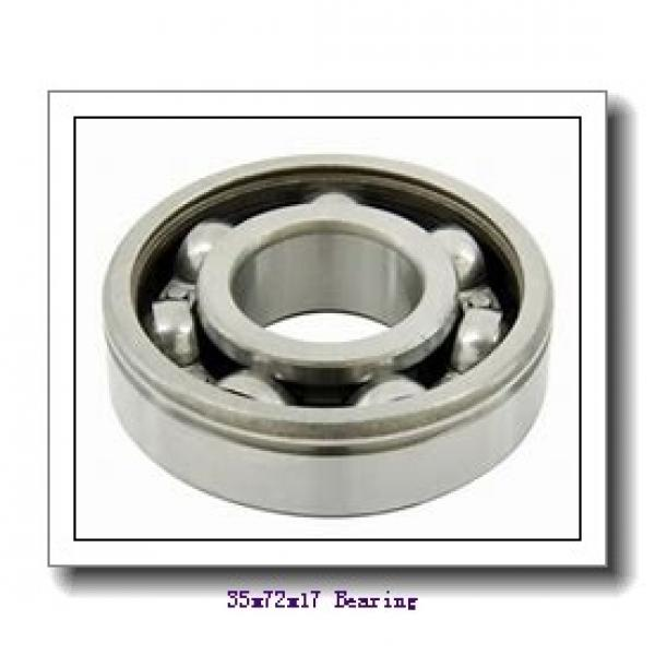 35 mm x 72 mm x 17 mm  NSK 7207 B angular contact ball bearings #1 image