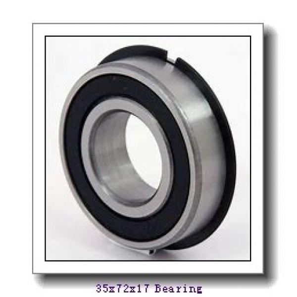 35 mm x 72 mm x 17 mm  NACHI 7207BDF angular contact ball bearings #1 image
