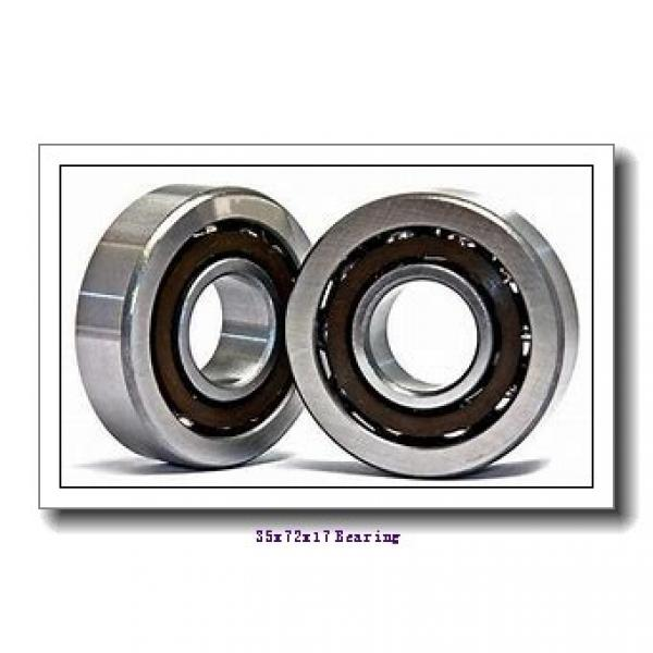 35 mm x 72 mm x 17 mm  NACHI 6207NR deep groove ball bearings #1 image