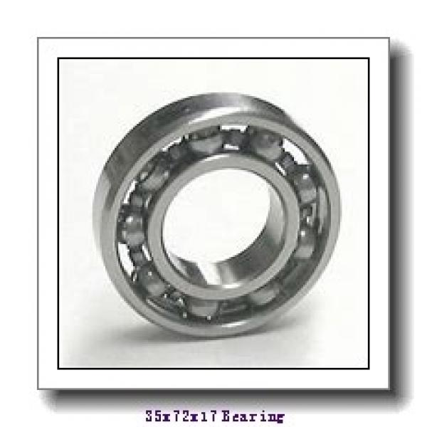 35 mm x 72 mm x 17 mm  NKE 6207-NR deep groove ball bearings #1 image
