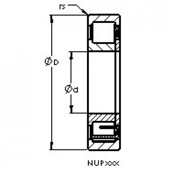 AST NUP208 E cylindrical roller bearings #1 image