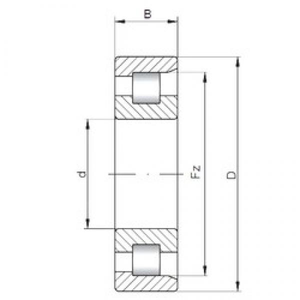 35 mm x 72 mm x 17 mm  ISO NF207 cylindrical roller bearings #2 image