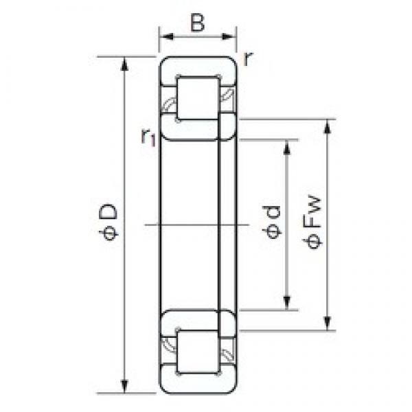 75 mm x 130 mm x 25 mm  NACHI NUP 215 cylindrical roller bearings #1 image