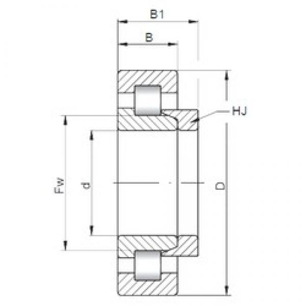 170 mm x 310 mm x 86 mm  ISO NH2234 cylindrical roller bearings #1 image