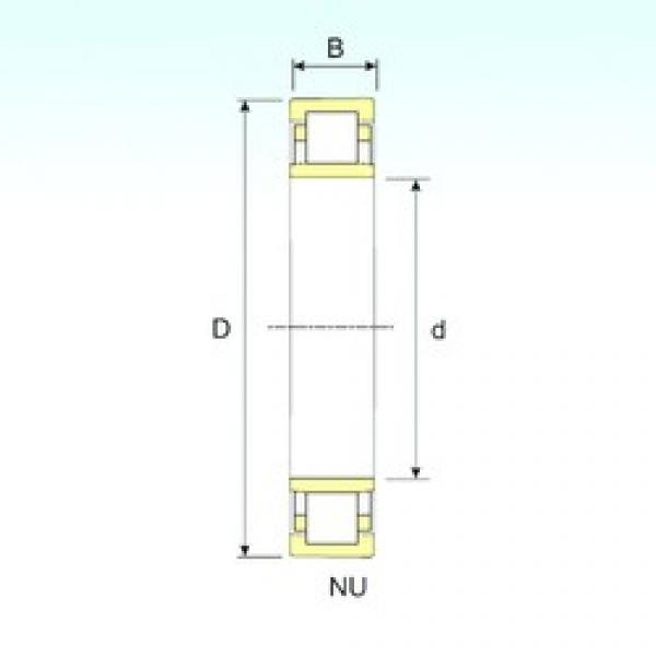 85 mm x 180 mm x 41 mm  ISB NU 317 cylindrical roller bearings #1 image
