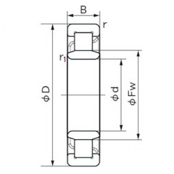 35 mm x 72 mm x 17 mm  NACHI NU 207 cylindrical roller bearings #2 image