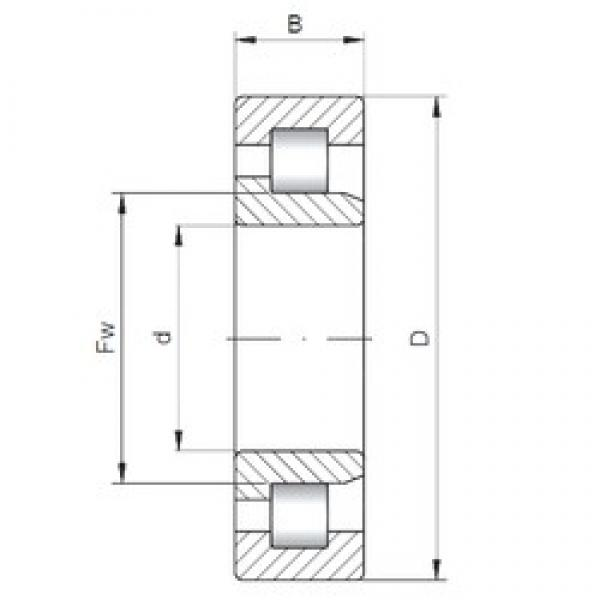75 mm x 130 mm x 25 mm  ISO NJ215 cylindrical roller bearings #1 image
