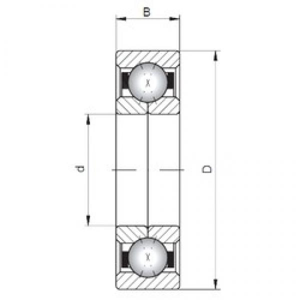 ISO QJ215 angular contact ball bearings #1 image