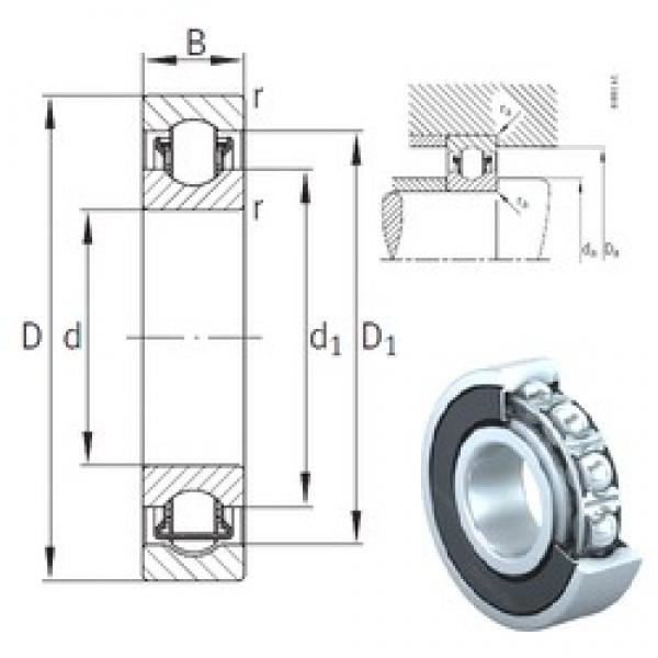 40 mm x 80 mm x 18 mm  INA BXRE208-2RSR needle roller bearings #1 image