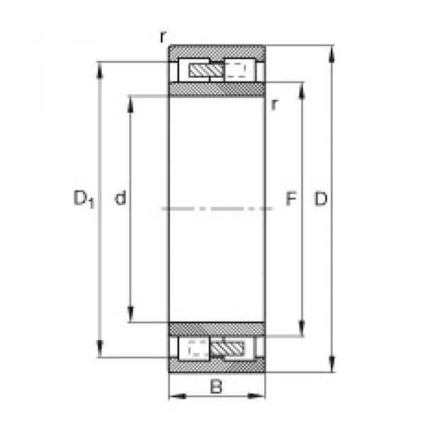 240 mm x 400 mm x 160 mm  FAG NNU4148-M cylindrical roller bearings #1 image