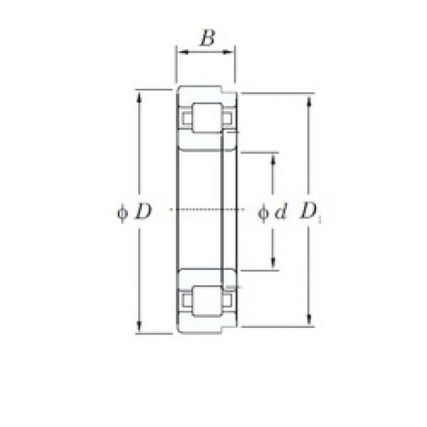 30 mm x 90 mm x 23 mm  KOYO NUP406 cylindrical roller bearings #1 image